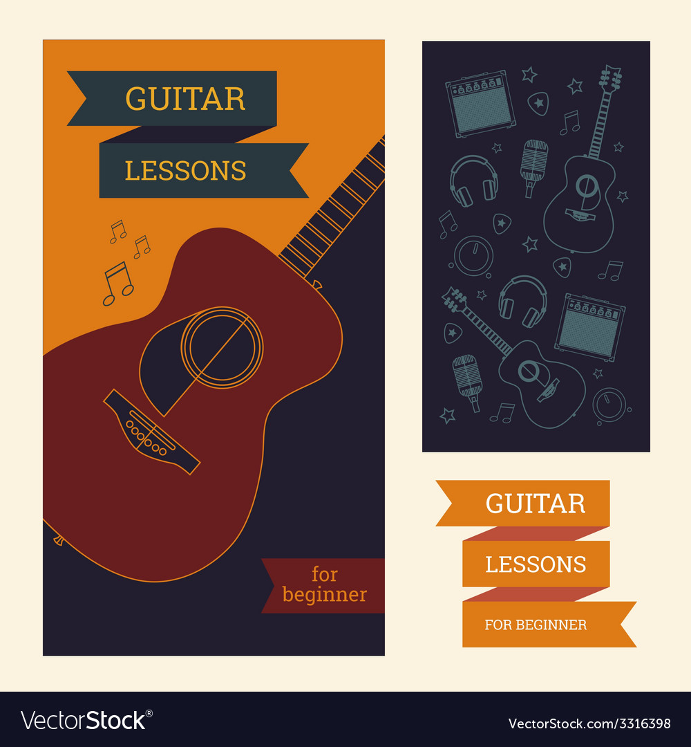Guitar poster vector | Price: 1 Credit (USD $1)