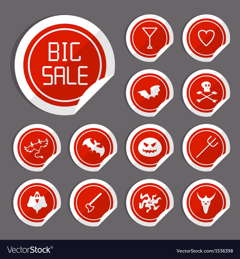 Halloween sale stickers vector | Price: 1 Credit (USD $1)