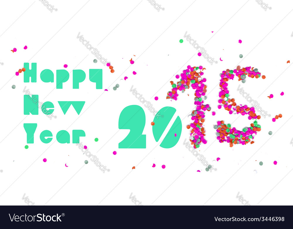 Happy new year 2015 party banner vector | Price: 1 Credit (USD $1)