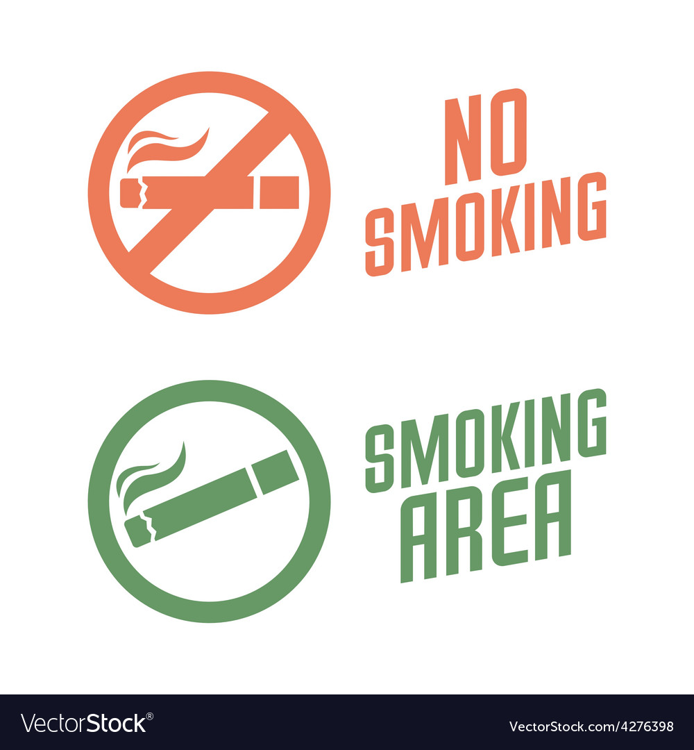 No smoking and smoking area signs vector | Price: 1 Credit (USD $1)