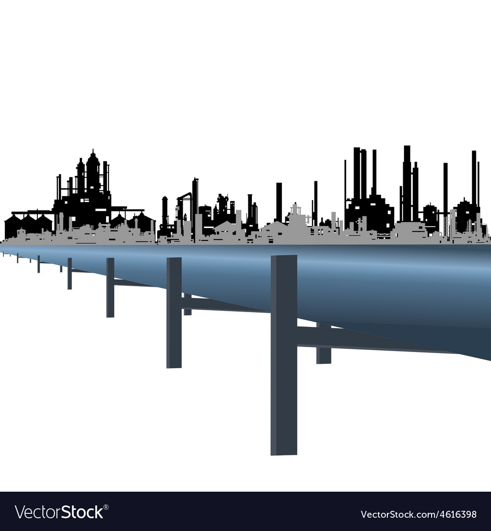 Oil pipeline vector | Price: 1 Credit (USD $1)