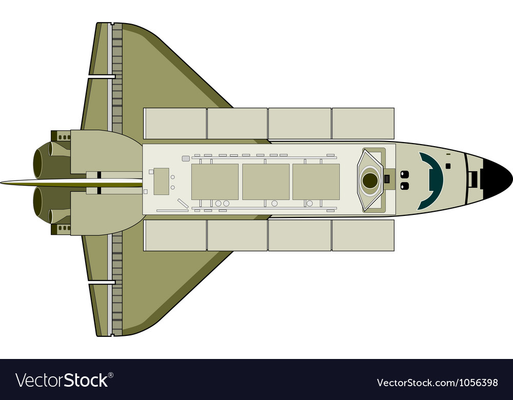 Space shuttle aircraft retro vector | Price: 1 Credit (USD $1)