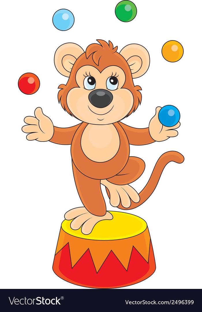 Circus monkey vector | Price: 1 Credit (USD $1)