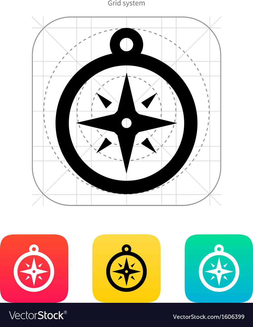 Compass icon navigation sign vector | Price: 1 Credit (USD $1)