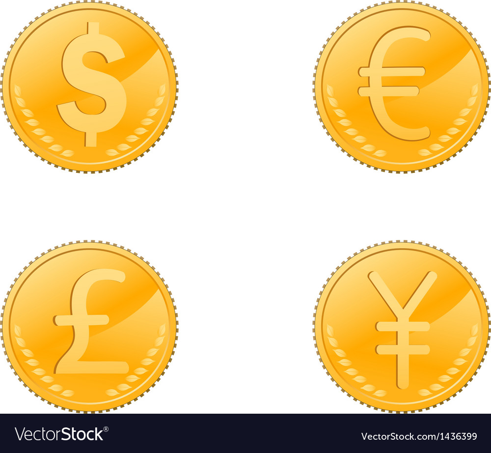Four coins symbol vector | Price: 1 Credit (USD $1)