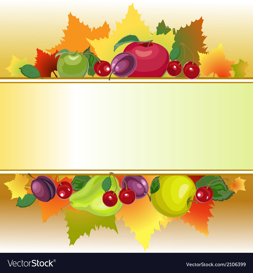 Fruit text box vector | Price: 1 Credit (USD $1)