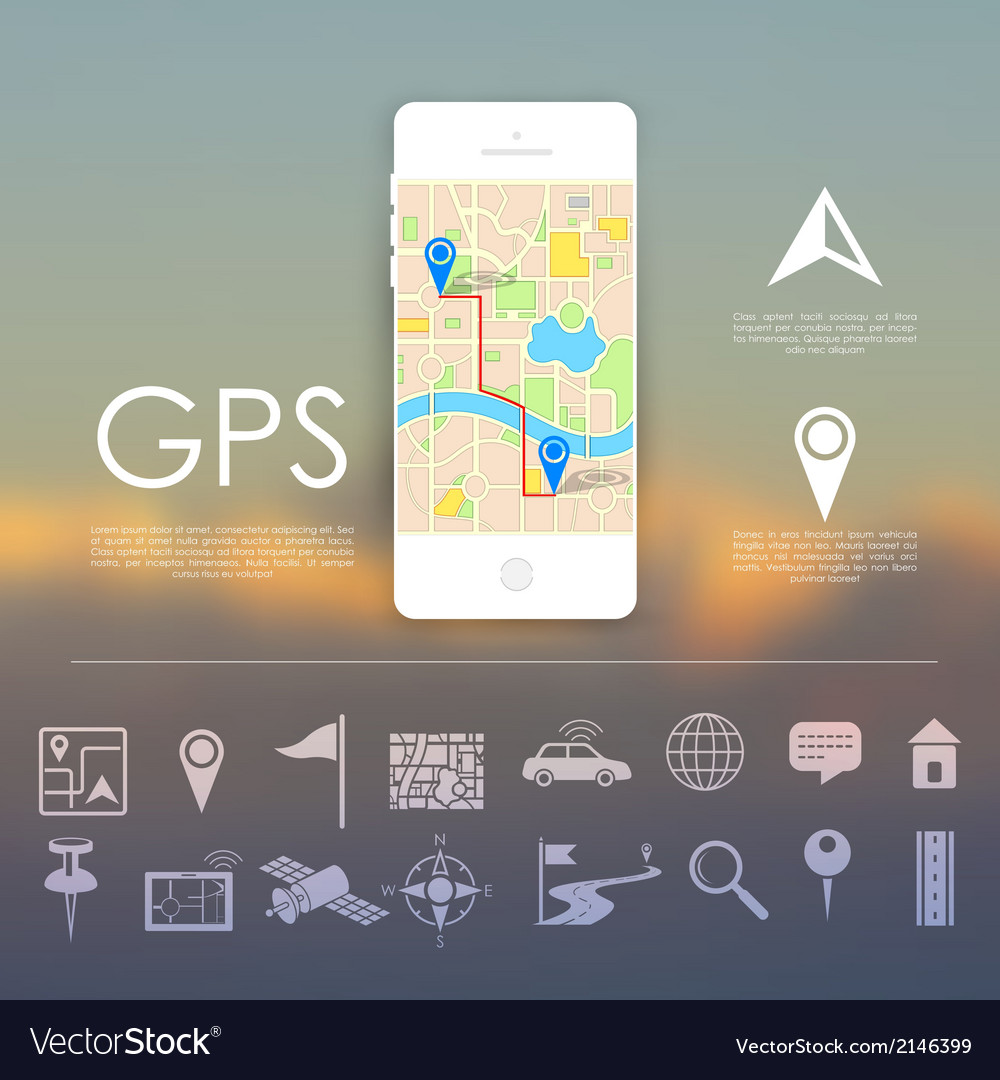 Gps navigation concept vector | Price: 1 Credit (USD $1)