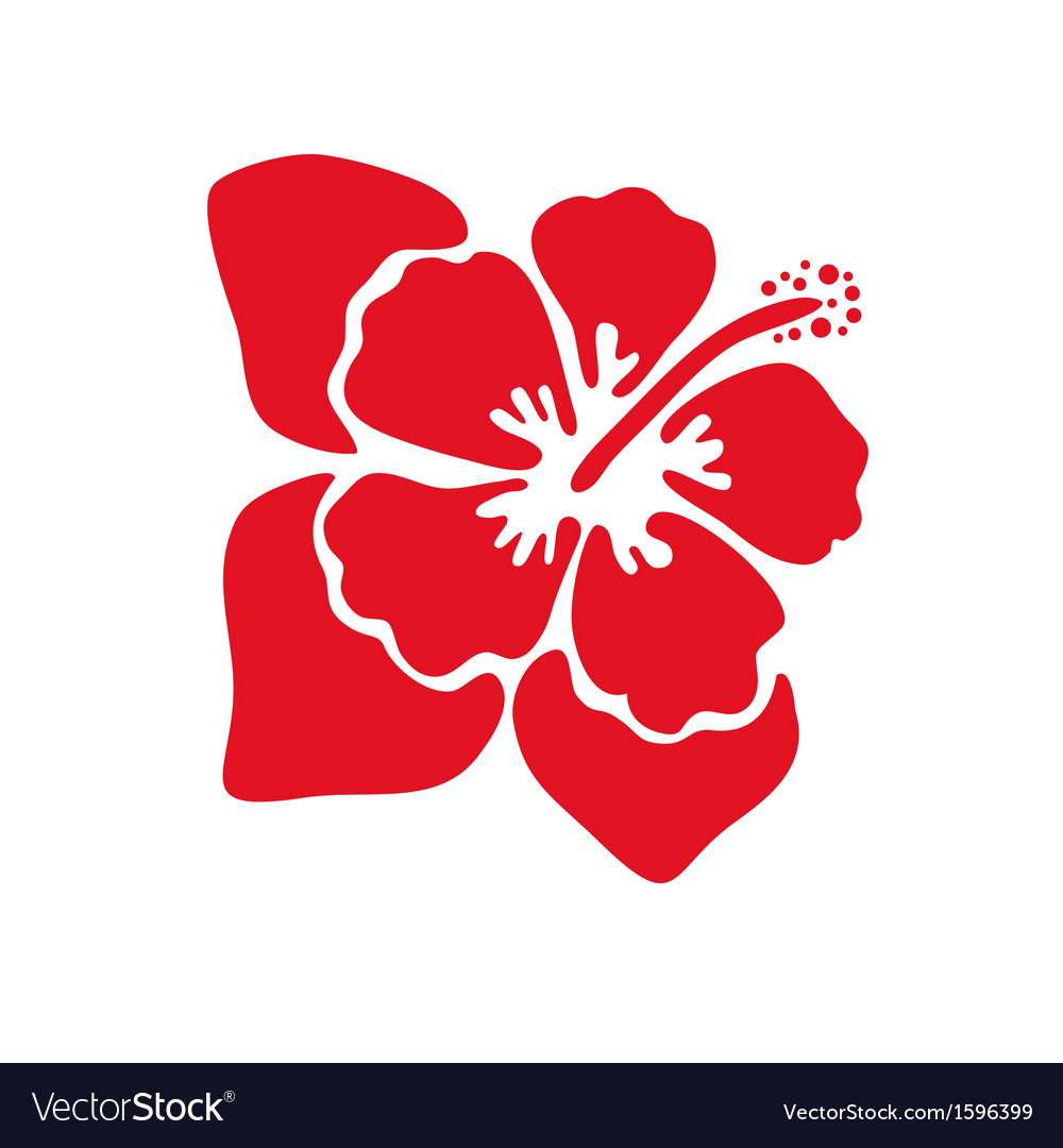 Hibiscus flower vector | Price: 1 Credit (USD $1)