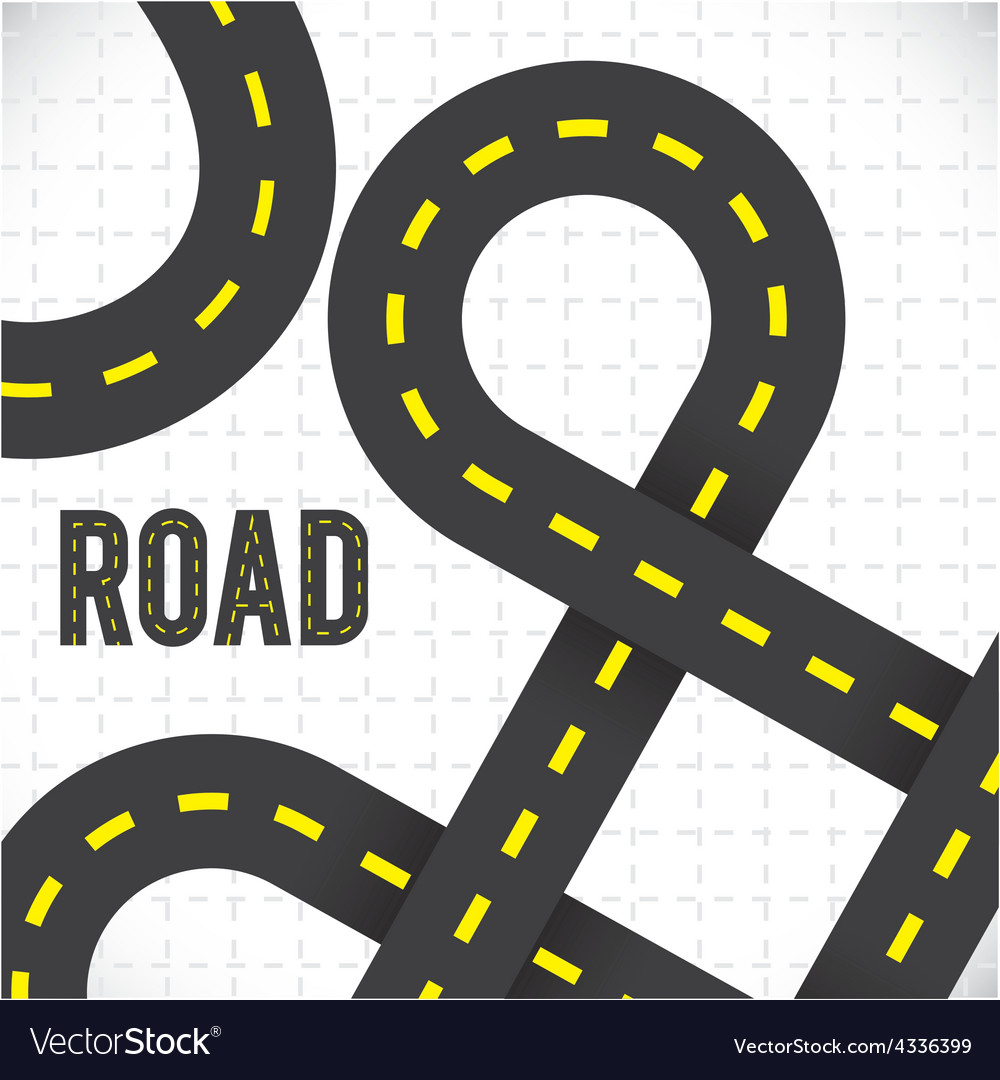 Road design vector | Price: 1 Credit (USD $1)