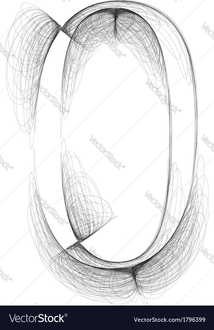 Sketch font number 0 vector | Price: 1 Credit (USD $1)