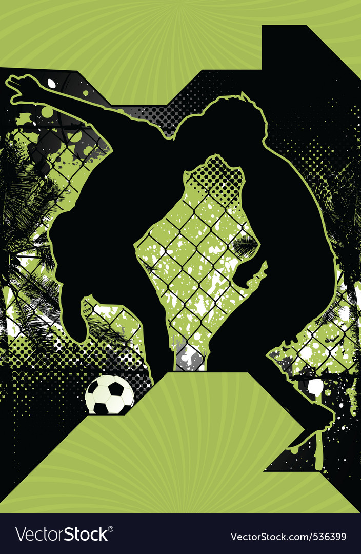 Soccer grunge poster vector | Price: 1 Credit (USD $1)