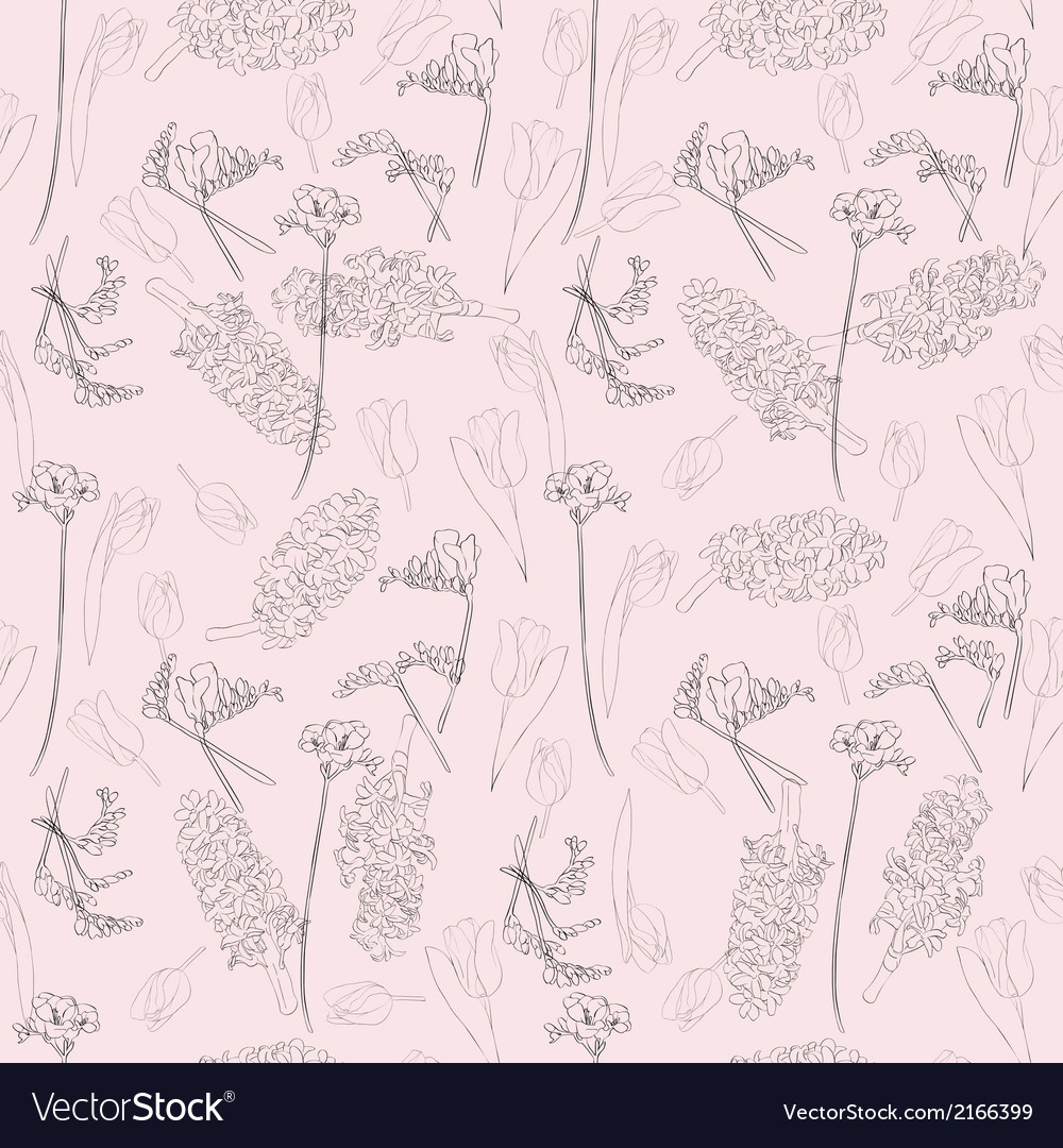 Spring linear pattern vector | Price: 1 Credit (USD $1)