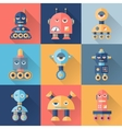 Set of robots in flat style vector
