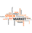 Word cloud stock market vector