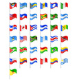 Flags north and south americas countries vector