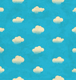 Clouds in the sky seamless pattern vector