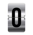 Alphabet silver flipboard letters 0 vector