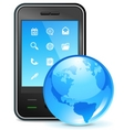 Global business on phone vector