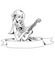 Hawaiian girl vector
