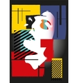The girl in style of a cubism vector