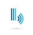 Letter b wireless logo icon design template vector