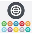 Globe sign icon world symbol vector