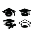 Graduation map icon vector