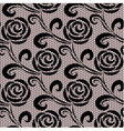 Seamless black retro roses lace pattern vector