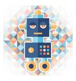Geometric background with robot vector