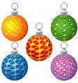 Special christmas balls vector