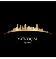 Montreal quebec canada city skyline silhouette vector