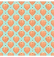 Pattern with shapes similar to hot air balloons vector