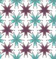 Flower pattern with hand drawn flower background vector