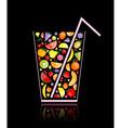 Fruit juice glass vector