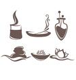 Spa symbols and emblems vector