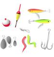 Fishing tackle vector