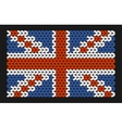 Knitted flag of great britain vector