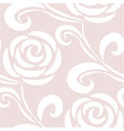 Seamless retro roses lace pattern vector