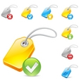 Keyword tag icon vector