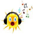 Music sun vector