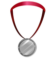 A medal with a red neck lace vector