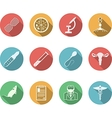 Colored icons for genetics vector