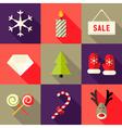 9 christmas flat icons set 7 vector