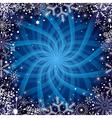 Christmas snowflakes frame vector