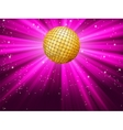 Golden disco ball vector