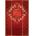 Abstract red card with pattern vector