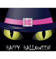 Cat eyes halloween vector