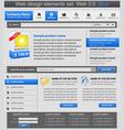Web design elements set blue vector