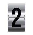 Alphabet silver flipboard letters 2 vector
