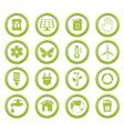 Eco green buttons set vector